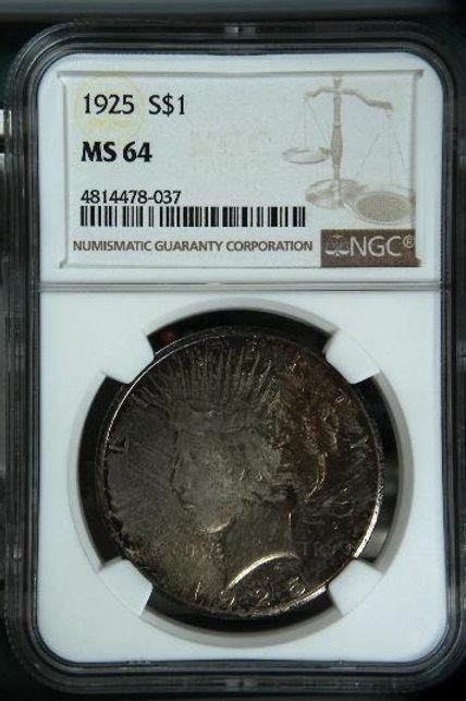 US Coins 1925 $1, 1 Dollar NGC#4814478-037 Grade MS 64