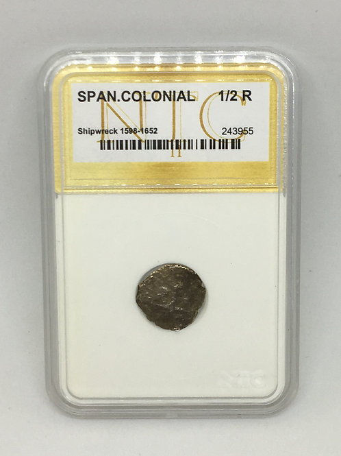 Shipwreck Coins Spanish Colonial 1598-1652 1/2 Real NTC # 243955