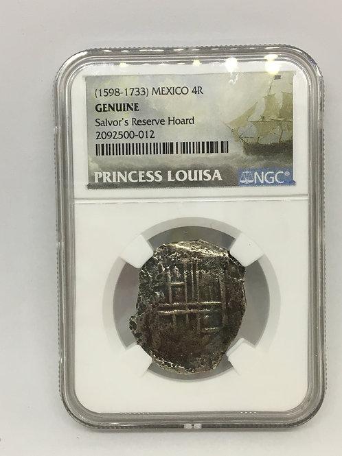 Shipwreck Coins (1598-1733) MEXICO 4R - SALVOR'S RESERVE HOARD, PRINCESS LOUISA