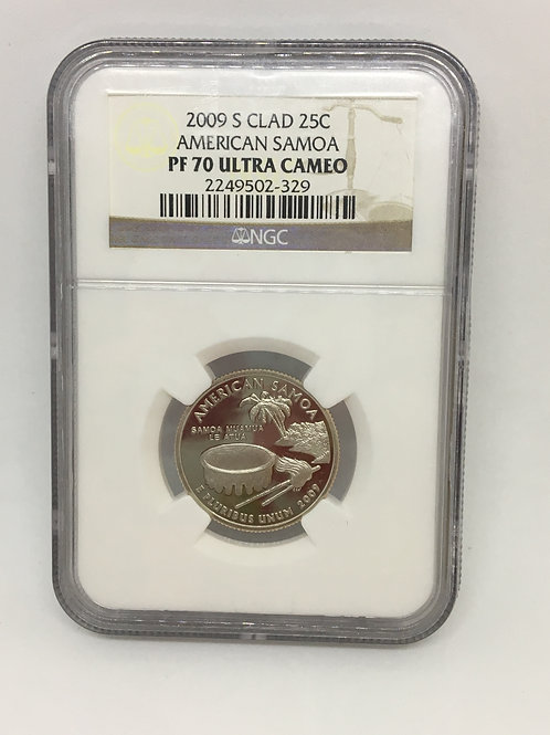 US Coins 2009-S 25C, 25 Cents Clad American Samoa NGC#2249502-329