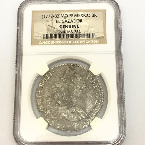 Shipwreck Coins (1777-83)MO FF MEXICO 8R EL CAZADOR NGC # 3500763-232