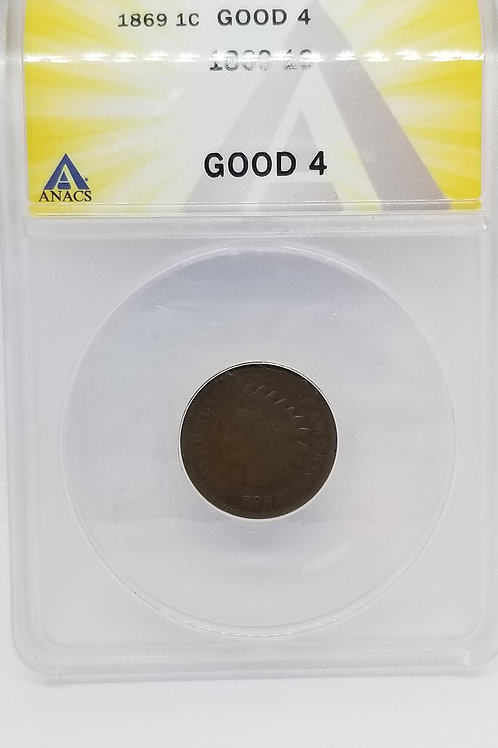 US Coins 1867 1C, 1 Cent, Indian Cent Corroded ANACS#6276232 Grade VF 35 Details