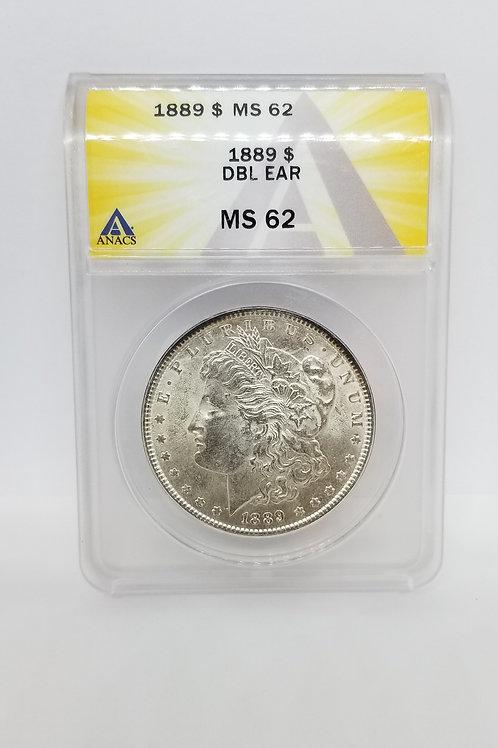 US Coins 1889 $1, 1 Dollar Morgan Silver Dollar VAM 20, Doubled Ear R3, DBL Ear