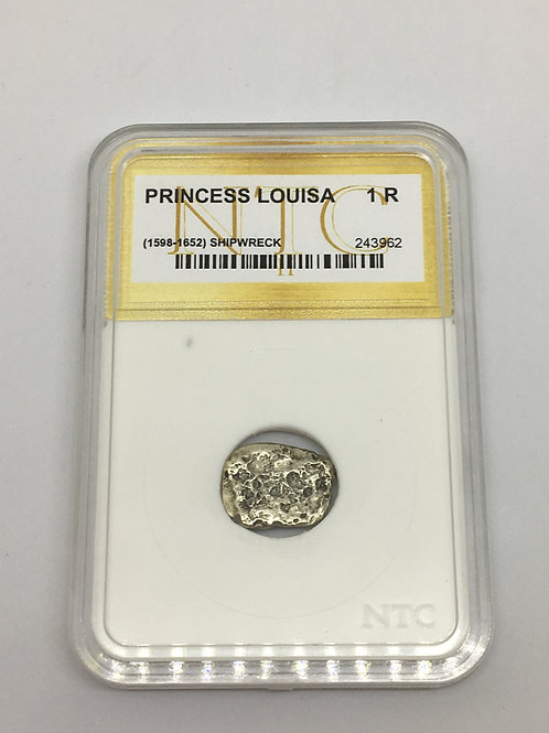 Shipwreck Coins Princess Louisa 1598-1652 1 Real - White Insert NTC # 243962