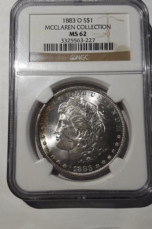 US Coins 1883-O $1,1Dollar McClaren Collection, Morgan Dollar NGC#3325563-227