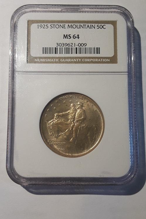 US Coins 1925 50C, 50 Cents Stone Mountain Half Dollar NGC#3039621-009