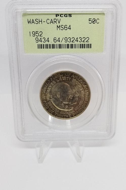 US Coins 1952 50C, 50 Cents George Washington - Carver Half Dollar PCGS#9434.64