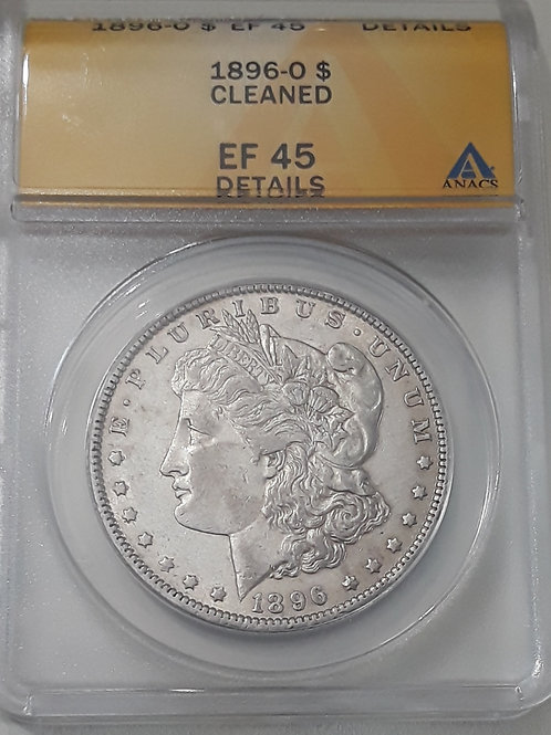 US Coins 1896-O $1, 1 Dollar Cleaned Morgan Silver Dollar ANACS#6096559