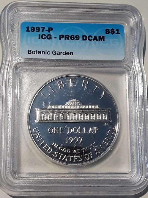 US Coins 1997-P $1, 1 Dollar Botanic Garden ICG#1870556401 Grade PR69 DCAM
