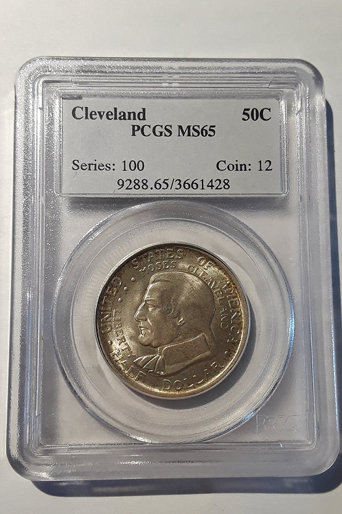 US Coins 1936 50C, 50 Cents Cleveland Half Dollar PCGS#3661428 Grade MS 65