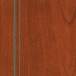 Cabinets: Red with Nickel Glaze on Cherry