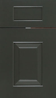 Cabinets: Iron Ore on Maple Hamlin Door Raised Panel Door