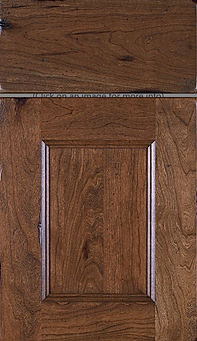 Cabinets: Tobacco - Weathered on Cherry Aspen Door Flat Panel Door