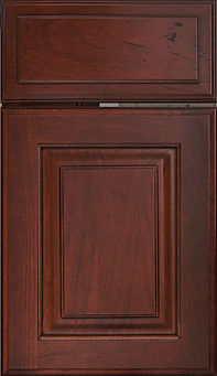 Cabinets: Bourbon with Van Dyke Glaze on Cherry Oxford Raised Panel Door Raised Panel Door