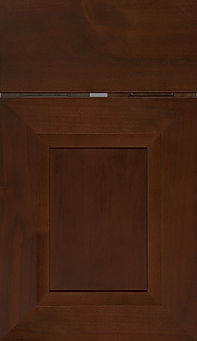 Cabinets: Umber on Alder (Clear) Windsor Door Flat Panel Door