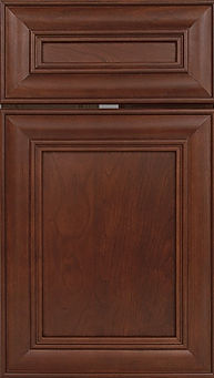 Cabinets: Bourbon on Cherry Kendall Door Flat Panel Door