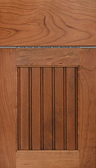 Cabinets: Medium on Cherry Beaded Century Panel Door Flat Panel Door