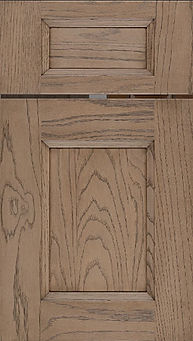 Cabinets: Clay on Red Oak Statesville Door Flat Panel Door