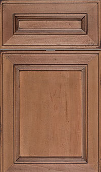 Cabinets: Oatmeal - Weathered on Maple Dalton Door Flat Panel Door
