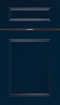 Cabinets: Naval on Maple Ward Door Flat Panel Door