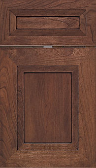 Cabinets: Coffee with Black Glaze on Cherry Windsor Door Flat Panel Door