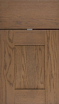 Cabinets: Mineral on Red Oak Hartford Door Flat Panel Door