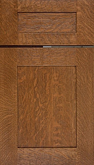 Cabinets: Braun on Quarter Sawn White Oak New Haven Door Flat Panel Door