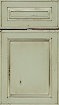 Cabinets: Clary Sage - Olde World on Maple Glenbrook Door Flat Panel Door
