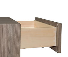 "5/8"" Standard Dovetail Drawer 5/8"" finger jointed hardwood with 1/4"" drawer bottoms. Available heights are 3"", 4"", & 7"" tall. Available at Standard pricing."