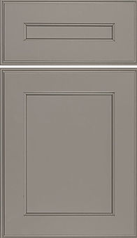 Cabinets: Dovetail Gray on Maple Essex Door Flat Panel Door