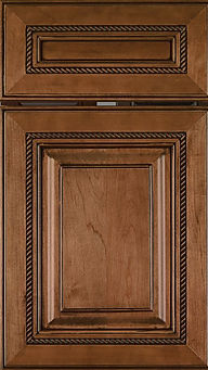 Cabinets: Spice with Black Glaze on Maple Manchester Door Raised Panel Door Styles