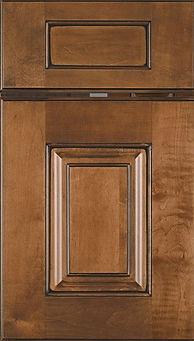 Cabinets: Spice on Maple Summit Door Raised Panel Door