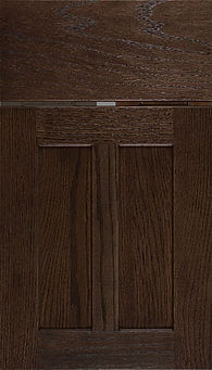 Cabinets: Dusk on Red Oak Wilmington Door Flat Panel Door
