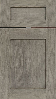 Cabinets: Flagstone on Rift Cut White Oak Hanover Door Flat Panel Door