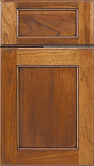 Cabinets: Chestnut with Black Glaze on Hickory Square Flat Panel Door Flat Panel Door