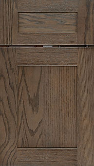 Cabinets: Morel on Red Oak New Haven Door Flat Panel Door