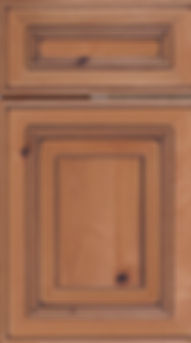 Cabinets: Natural with Mocha Glaze on Rustic Alder (Knotty) Portland Door Raised Panel Door