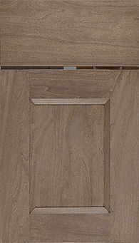 Cabinets: River Rock on Rift Cut White Oak Statesville Door Flat Panel Door