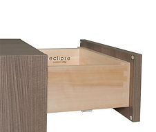 """3/4"""" Premium Dovetail Drawer 3/4"""" hardwood with 1/4"""" plywood bottoms. Fully sanded, multi-coated finish. Eclipse logo branded on the inside. Available heights are 3"""", 4"""", 7"""" & 10"""" tall. Available at upgrade pricing."""