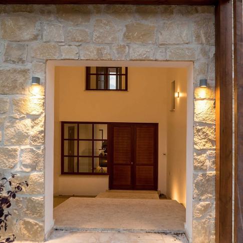 Entrance of residence