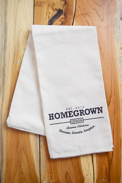 Homegrown Design Tea Towel