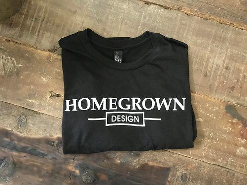 Black Home Grown Design T-shirt