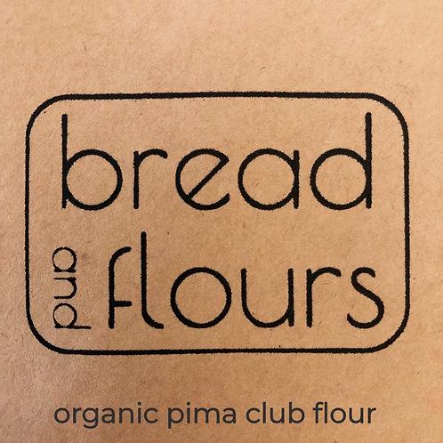 2lbs Stone Milled Organic Pima Club Flour