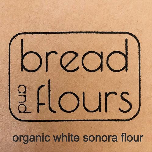 2lbs Stone Milled Organic White Sonora  Flour
