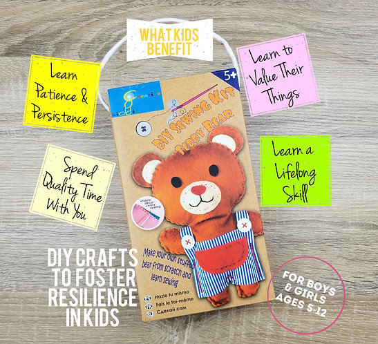 Build Your Own Teddy Bear - DIY Sewing Kit for Kids Ages 5 to 12