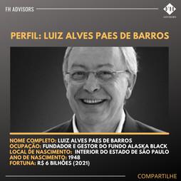 Perfil do Investidor: Luiz Alves Paes de Barros