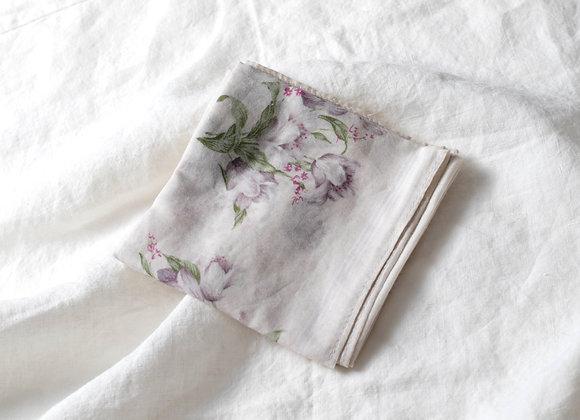 ORCHID FLOWER BANDANA - IVORY