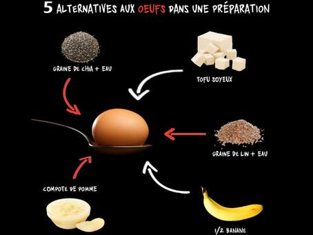 5 alternatives aux œufs dans vos préparations :