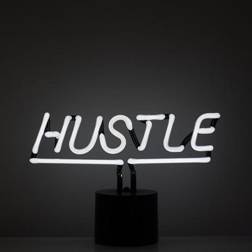 """HUSTLE"" NEON SIGN"