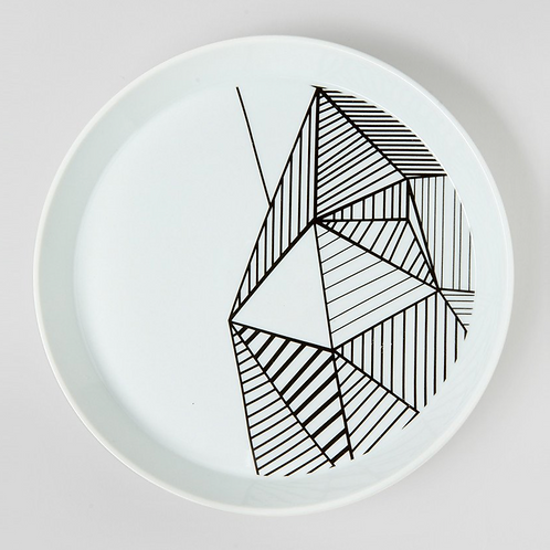 PLATE FOR SKELETON CANDLES